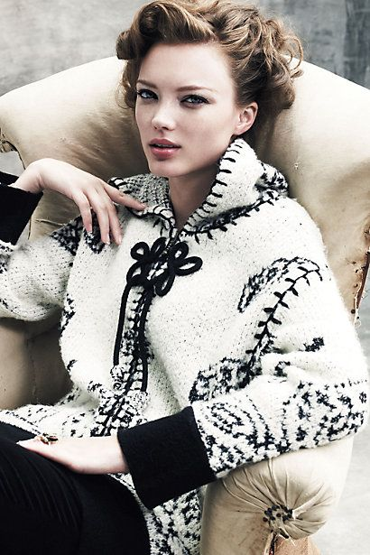 black and white sweater coat