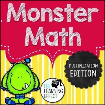 Monster Math - Multiplication Timed Tests   The Learning Effect
