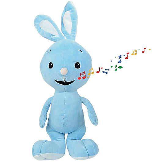 """KiKANiNCHEN sing mit mir Plüschtier von Simba!<br /> <br /> Das süße KiKANiNCHEN singt ein tolles Tröstelied für die Kinder, wenn man ihm die linke Hand drückt. Drückt man die rechte Hand, ertönt sein bekanntes lachendes """"DIBEDIBEDAB"""". <br /> <br /> <br /> +++ Details +++<br /> + Größe: 45 cm<br /> + Tröstelied ca. 45 Sek.<br /> + Material: Plüsch<br /> + Pflegehinweis: Oberfläche mit ..."""