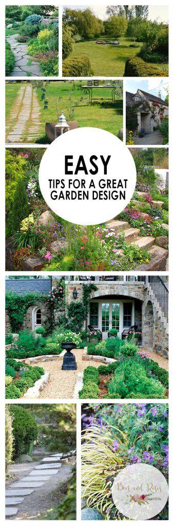 Easy Tips for A Great Garden Design. Garden Design, How to Design Your Garden, Garden Design Tips and Tricks, Landscaping, Landscaping Tips and Tricks, Landscaping for Beginners. How to Design Your Yard.
