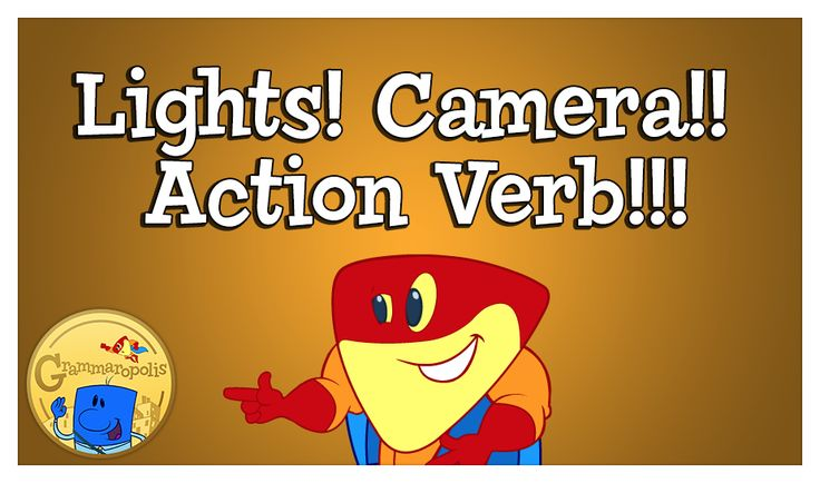 Action verbs lights camera action and light camera on pinterest