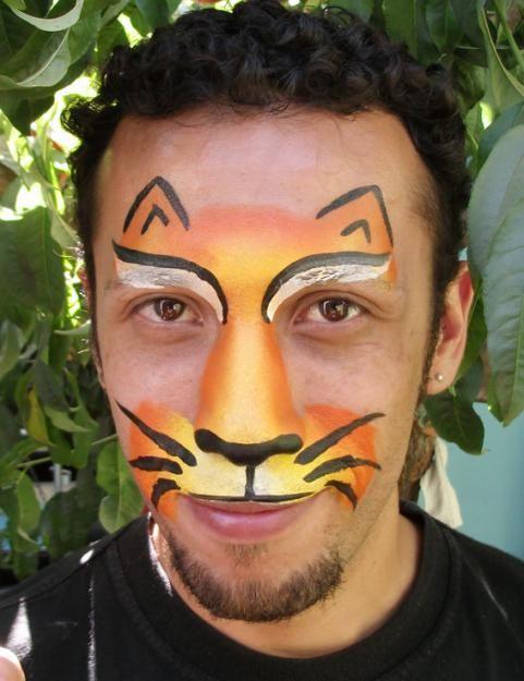 Las 25 mejores ideas sobre pinturas de caras de animales for Caras pintadas para halloween