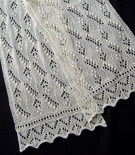 Lily of the Valley Scarf by Nancy Bush  Published in  Knitted Lace of Estonia
