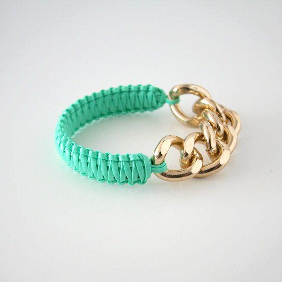 Bracelet: Gold Chains, Accessories, Clothes, Helloberry Bracelet, Diy Jewelry, Mint Smoothie, Like Bracelets, Diy Bracelet