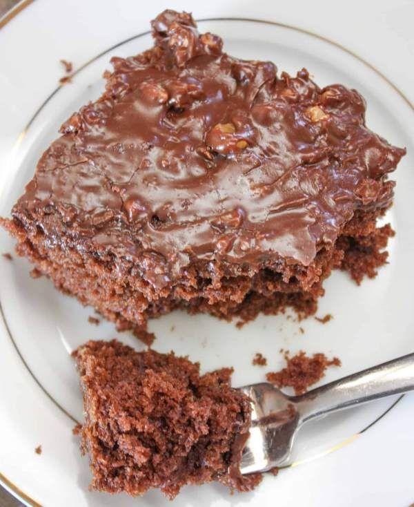 Texas Chocolate Sheet Cake With Buttermilk Recipe Sheet Cake Homemade Recipes Dessert Chocolate Sheet Cake