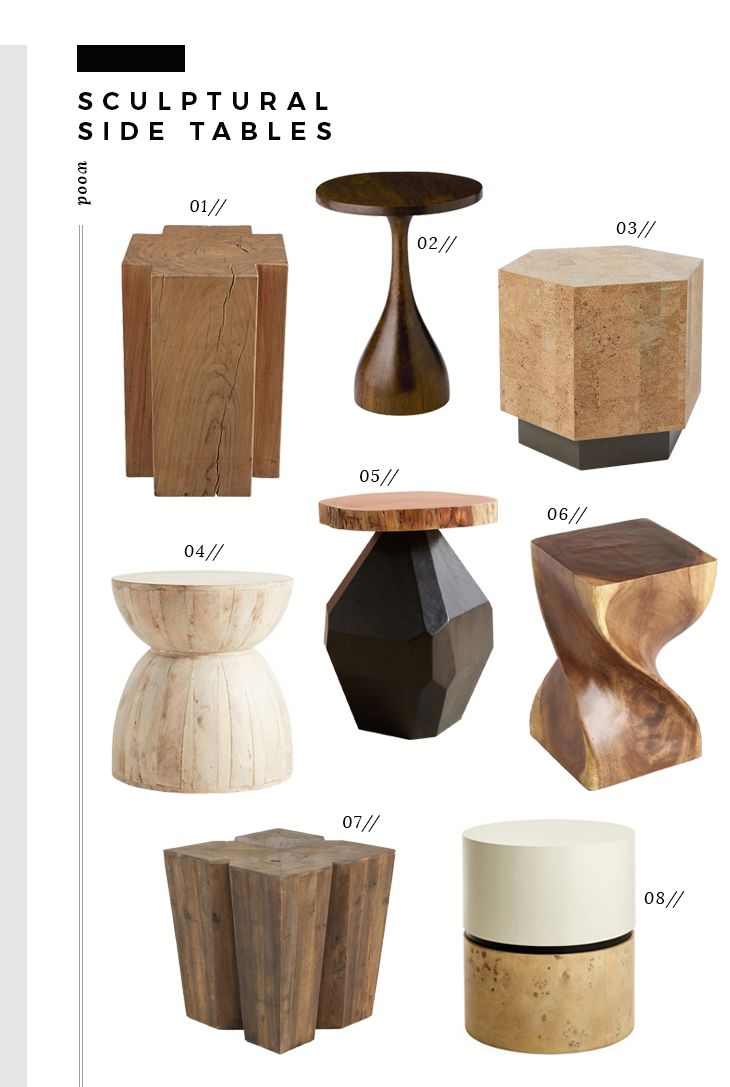 Trend Alert Sculptural Side Tables Room For Tuesday Rooms Home Decor Side Table Diy Home Decor [ 1087 x 730 Pixel ]