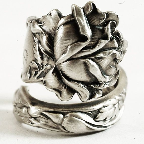 Bridal Rose Sterling Silver Spoon Ring by Alvin Co by Spoonier