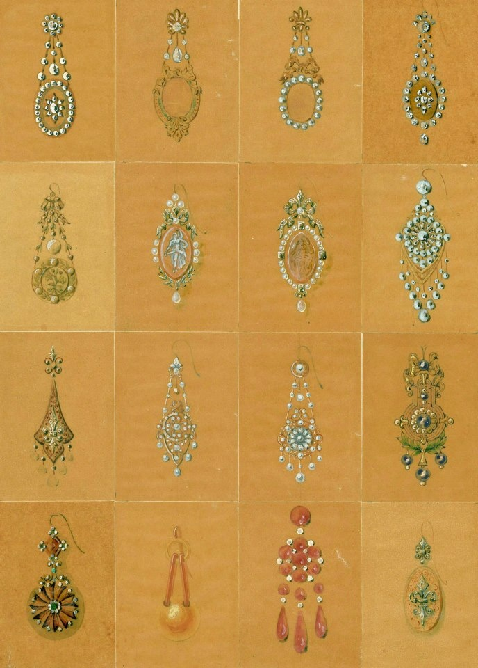 Mellerio Dits Meller - illustration of vintage jewelry