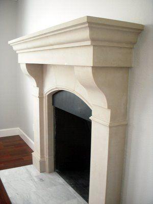 Cast Stone Fireplace remodel. Old world stonework- Amhurst
