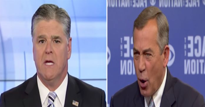 "After John Boehner Called Sean Hannity a ""Right Wing Idiot,"" Hannity Exposed Him For Who He Really is"
