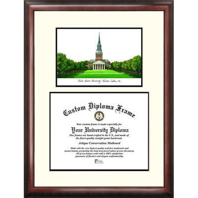 Campus Images NCAA Scholar Diploma Picture Frame NCAA Team: Wake Forest Demon Deacons