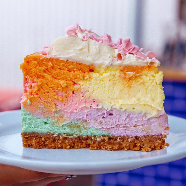 1000+ Ideas About Rainbow Cheesecake On Pinterest