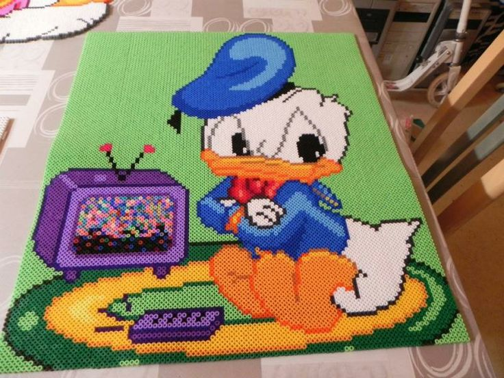 Baby Donald Duck hama perler beads by  hardy8676