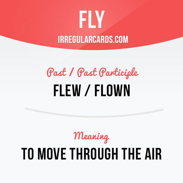 """""""Fly"""" means to move through the air. #English"""
