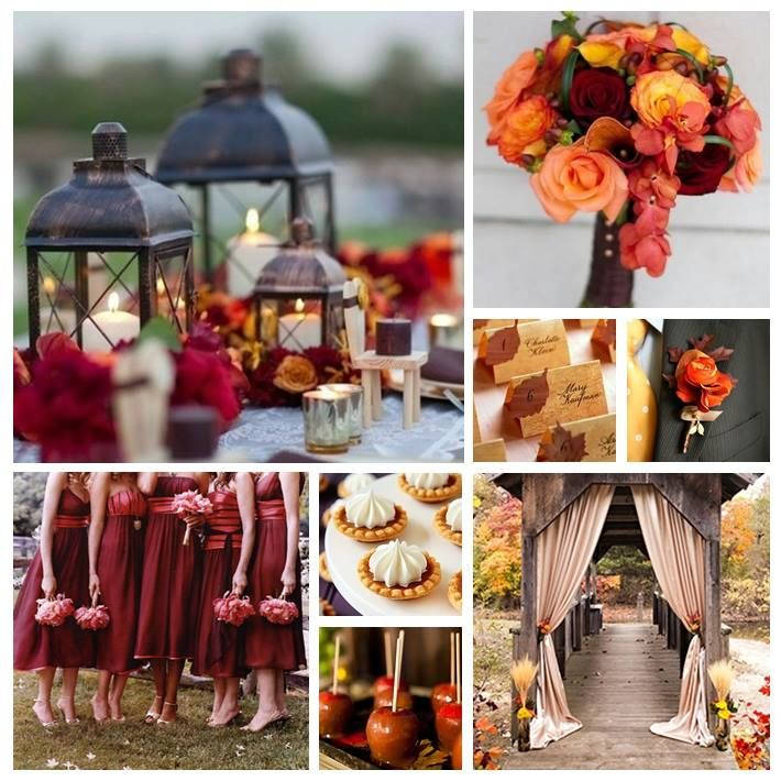 Don't like the color of the bridesmaid dresses, or the flowers in the centerpiece. Everything else is pretty.
