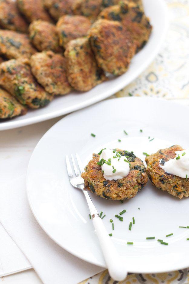 Tortitas de espinaca, quinoa y semillas de chía:   16 Deliciosas maneras de incorporar semillas de chía a tu dieta