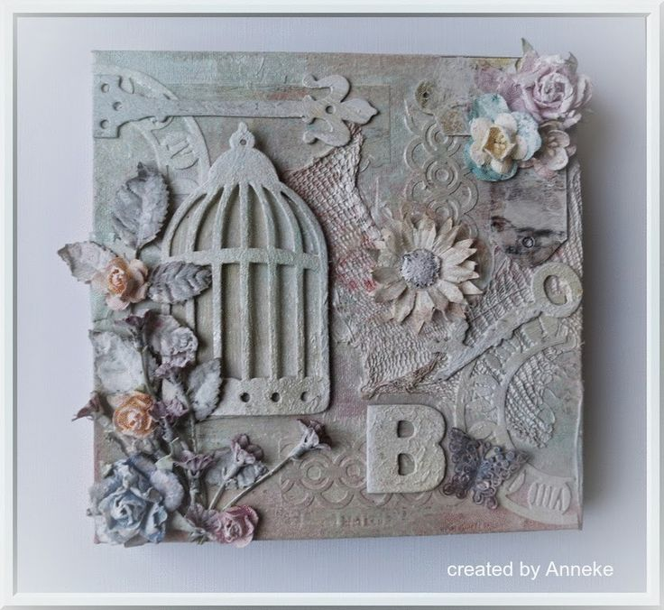 Shabby chique canvas my own craft creations pinterest canvases and shabby - Shabby chique kamer ...