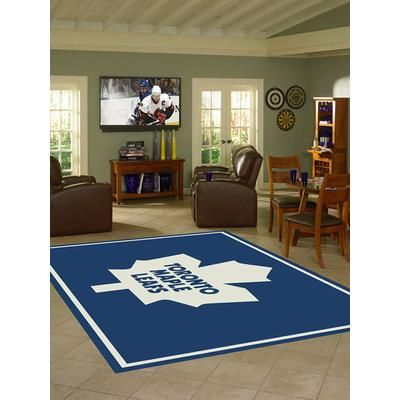 NHL - 3 Ft. 10 In. x 5 Ft. 4 In. Toronto Maple Leafs Spirit Rug - 2-2081-200 - Home Depot Canada