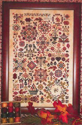 Rosewood Manor Autumn Quakers - Cross Stitch Pattern.