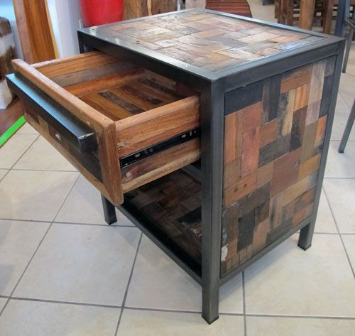 A Great Looking Night Stand with 1 Top Drawer & an Open Bottom Shelf.  Reclaimed - 62 Best Images About Reclaimed Boat Wood Furniture On Pinterest