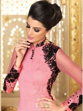 Pink Color Latest Designer Heavy Embroidery Anarkali Suit