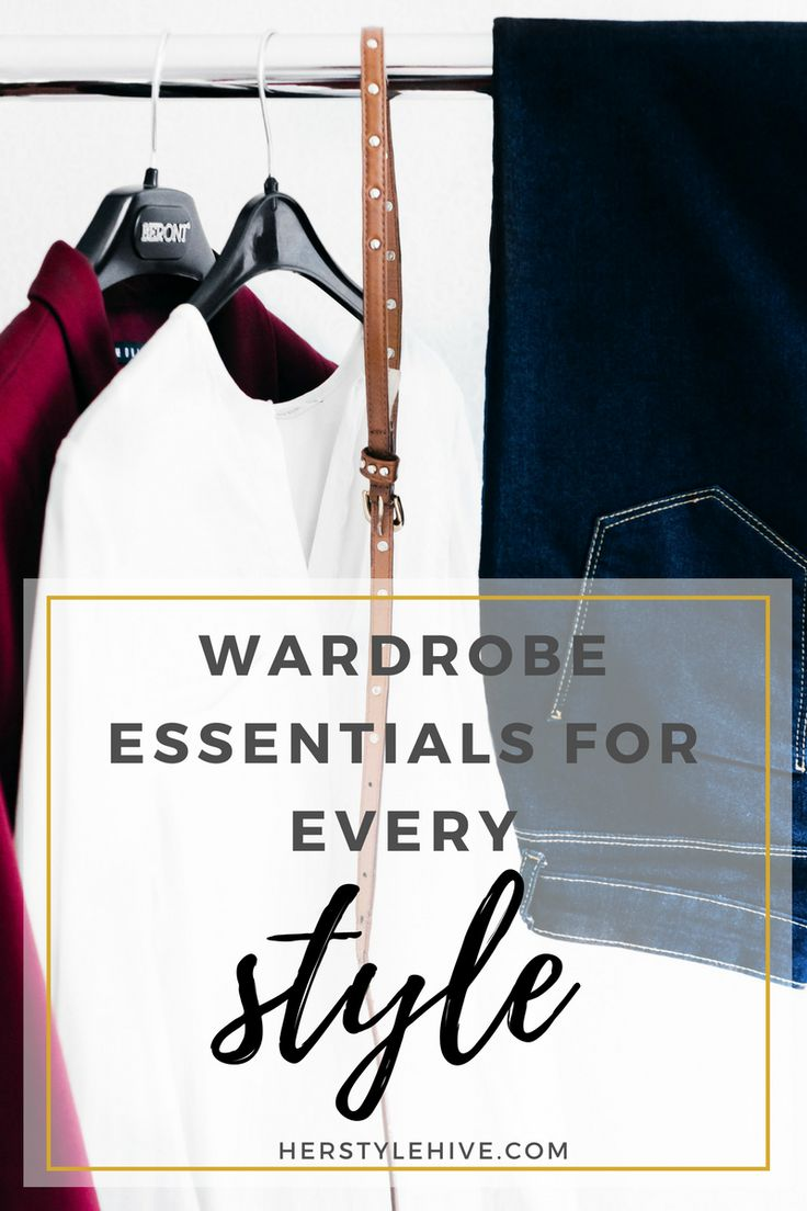 Wardrobe Essentials Every Woman Needs by @herstylehive