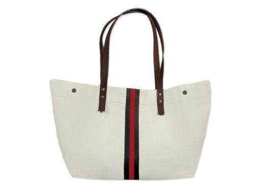 Chelsea Tote Bag - Navy / Red Stripe