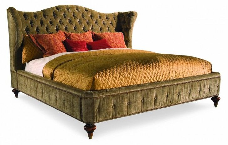 Luxury Dark Green Tufted King Headboard Design With Rectangle Shaped White Mattress Complete With The Gold Scheme Bedding Also Warm Red Pillows Accessories Best of King Headboard Designs for Bed Accessories Style Furniture