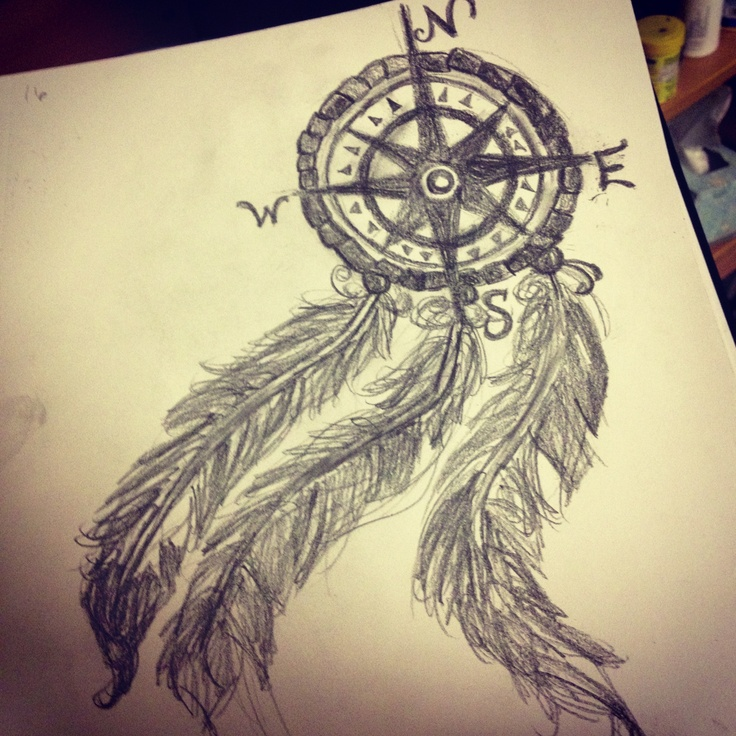 My compass dream catcher drawing.