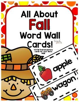 All About Fall Word Wall Cards!