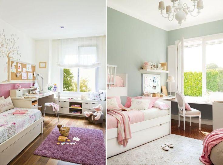 Г-образная планировка детской комнаты