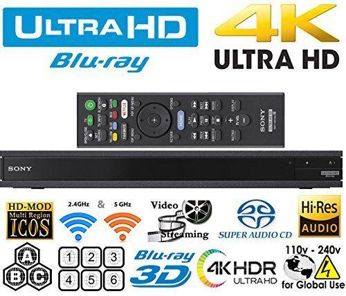 Sony Region Free UBP X800 4K Ultra HD Blu-ray Player UHD