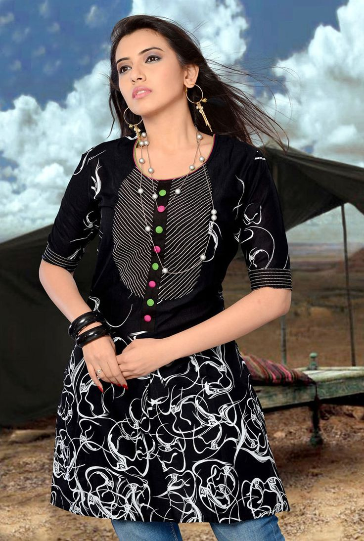 Indian jewelry nose ring 161 que bonita beautiful women throughout - Amazing Cotton Kurti In Black Color 10 93 3 Buy Now Http