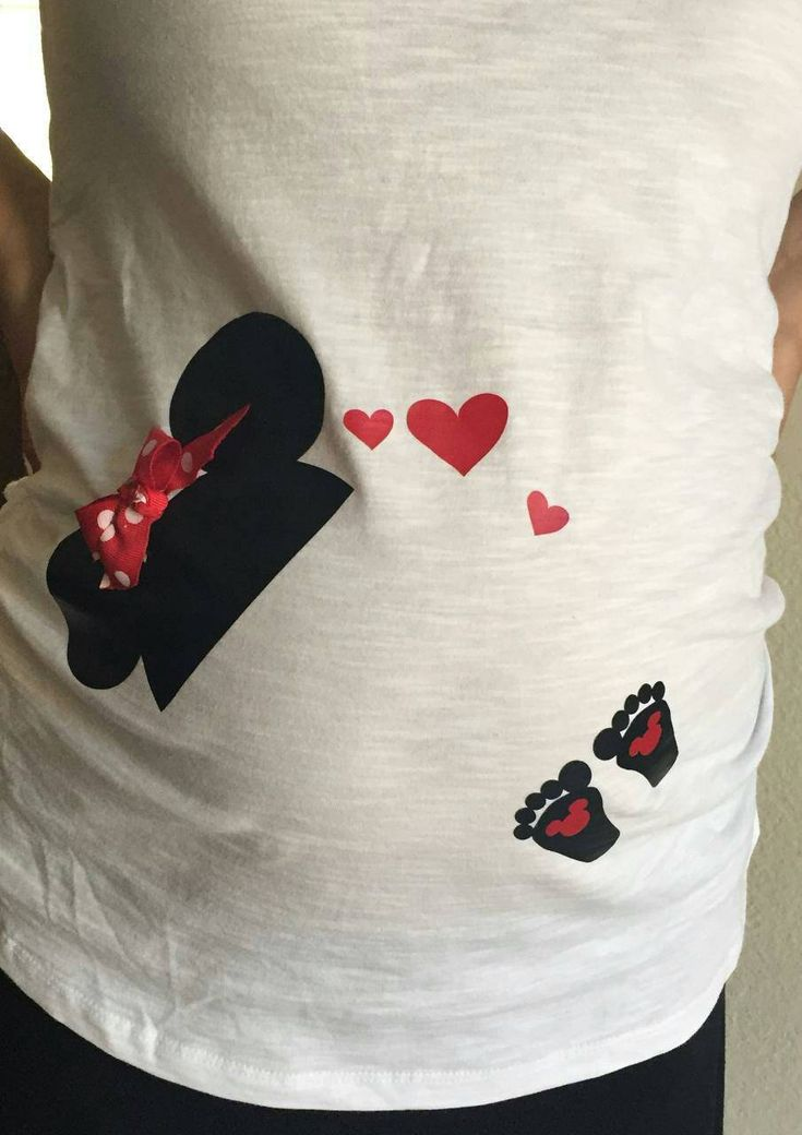 Iron on for maternity shirt, Disney Mickey or Minnie Mouse hat with baby footprints. by PixieGlitterCreation on Etsy https://www.etsy.com/listing/241094676/iron-on-for-maternity-shirt-disney