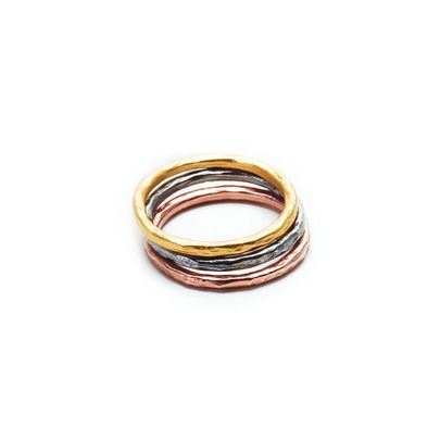 mixed metal karma rings, set of three - size 6 - Dogeared. Love mixing metals and the simplicity of the rings. #dogeared #sharethehappy