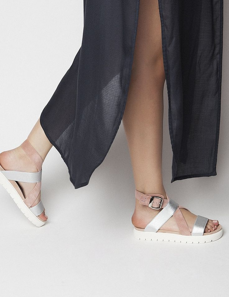 Lexi Pink Sandals S/S 2015 #Fred #keepfred #shoes #collection #suede #fashion #style #new #women #trends #pink #silver #sandals