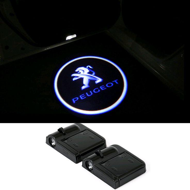Puerta Del Coche LED Bienvenido Logo Proyector de Luz para Peugeot para PEUGEOT 307 206 308 407 207 406 208 3008 2008 508 408 301 306 106 405