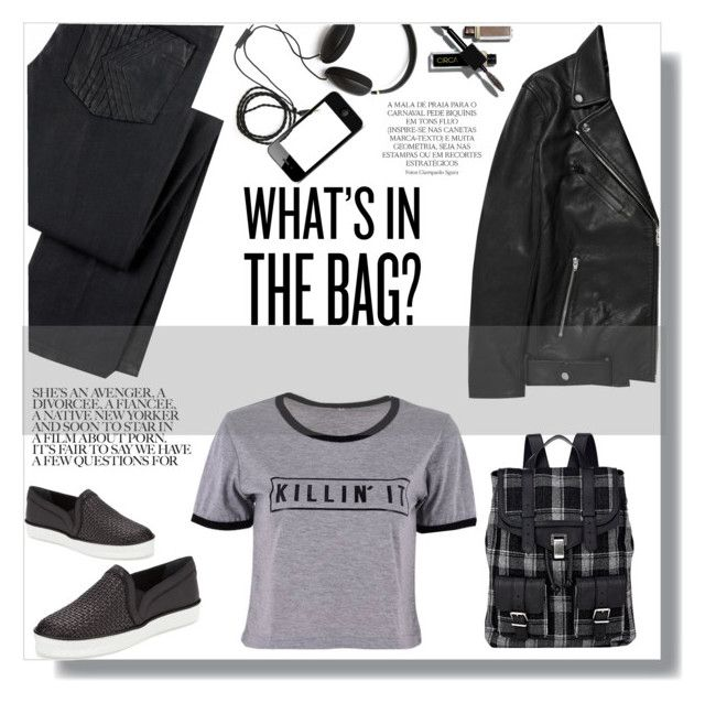 """""""Black"""" by olx-kz ❤ liked on Polyvore featuring K Karl Lagerfeld, T By Alexander Wang, Stuart Weitzman, Proenza Schouler, Molami and Magdalena"""
