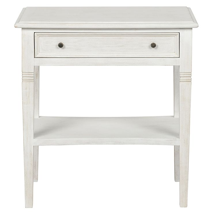 Noir Oxford White Wash Side Table @LaylaGrayce