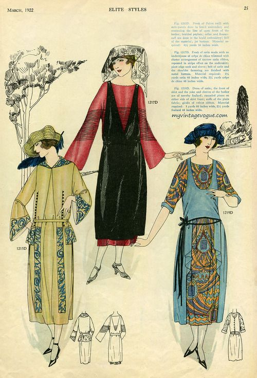 Elite Styles Magazine - March 1922 (ohhh!! I love these dresses!)