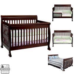 Convertible baby crib. Baby furniture ideas.