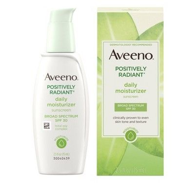 Aveeno Positively Radiant Daily Moisturizer With Soy – 2.5 fl oz, Size: 2.5oz