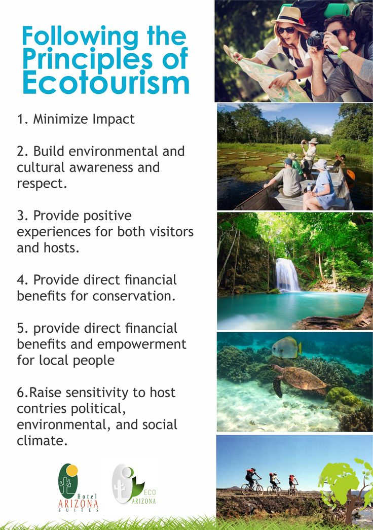 Following the principles of ecotourism