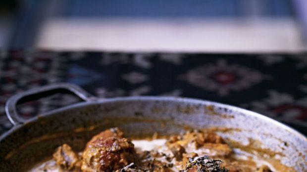 Paneer kofta and shiitake mushroom curry