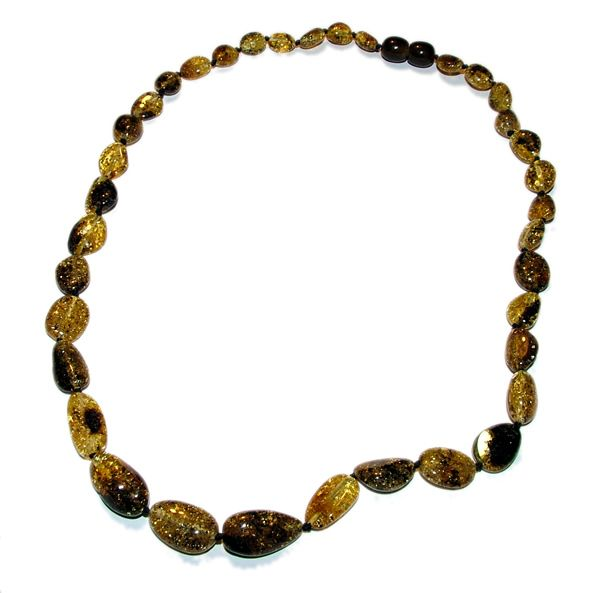 Adult Olive Amber Necklace