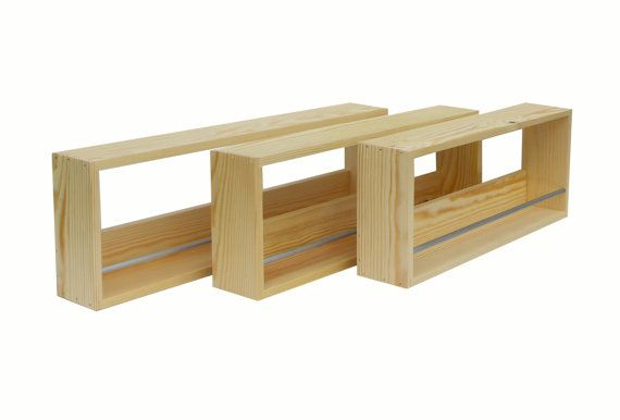 """23"""" - $56 with ship - Solid Pine Spice Rack Contemporary Minimalist by SilverAppleWood"""