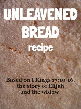 Unleavened bread recipe - Elijah and the widow