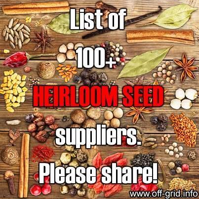 List of heirloom seed suppliers