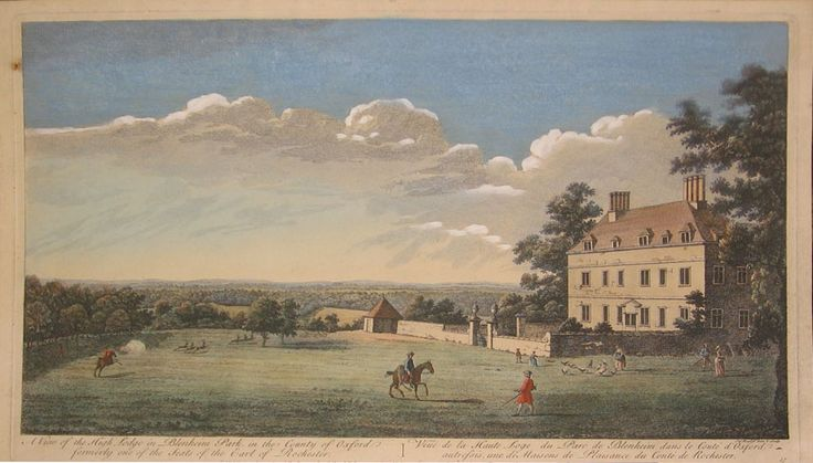 A View Of The High Lodge In Blenheim Park, In The County Of Oxford Formerly One Of The Seats Of The Earl Of Rochester By John Boydell