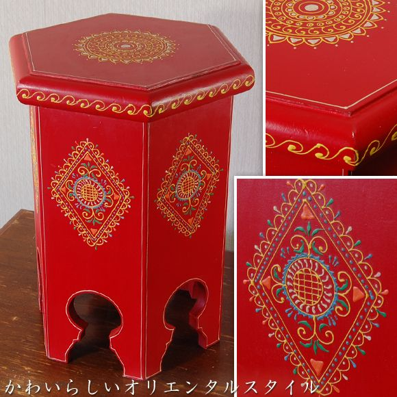 【楽天市場】Tittawin ティタウィン レッド ウッドスツール 花台 アンティーク アンティーク風 雑貨 オリエンタル 赤 家具:DECOR Plus